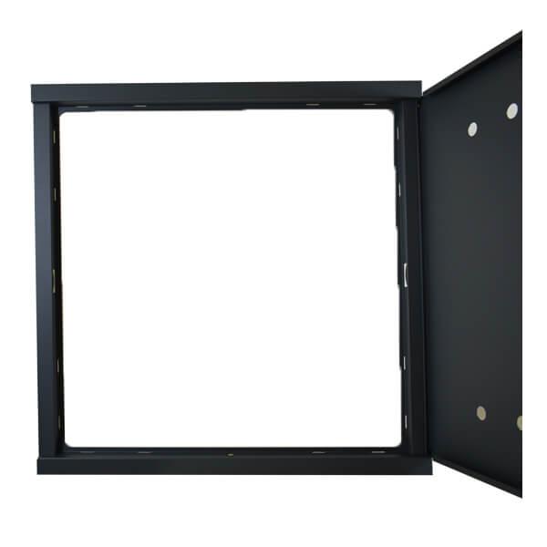Drzwi z ramką GAZ 600x600 stal ocynk gr 0,8 malowana proszkowo grafit RAL7016 mat all3