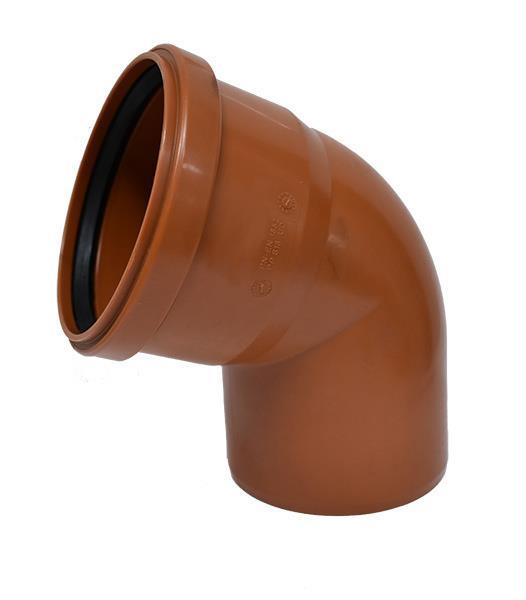 Instalacja sanitarna - Kolano kanalizacyjne zewnętrzne PVC 200 67,5